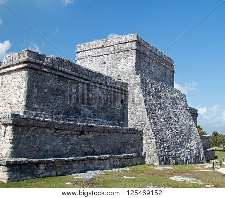 Tulum Mayan Ruins - Castillo / Temple Of The Diving God And Temple Of The Initial Series