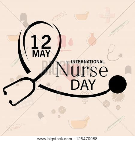 illustration of a background for International Nurse Day.