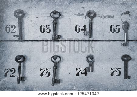Vintage Keys With Numbers