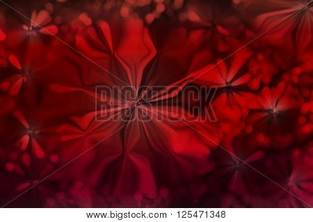 Abstract Red Colour Flowers Shape Pattern Design Background