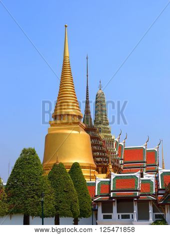 Wat Phra Kaew temple in Grand Palace, Bangkok, Thailand