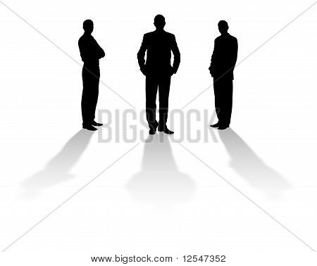 Silhouette Of The Men