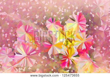 Colourful Lovely Crystallize Abstract Flowers Background In Pastel Colour Tone