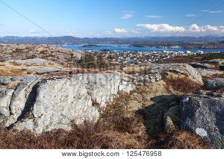 Empty Norwegian Coastal Landscape, Springtime