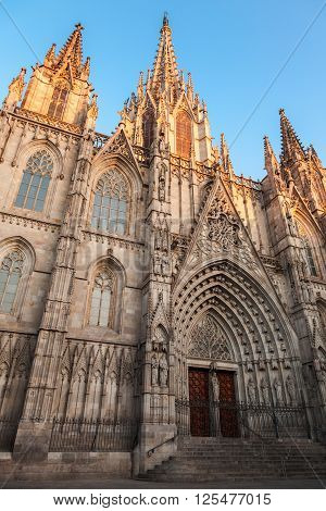 Barcelona Cathedral. Facade, Vertical Photo