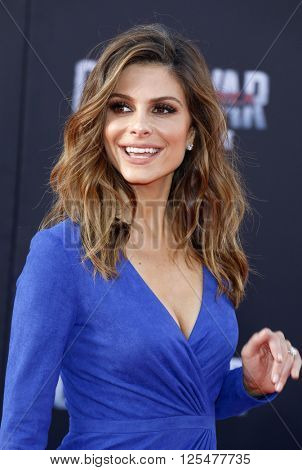 Maria Menounos at the World premiere of 'Captain America: Civil War' held at the Dolby Theatre in Hollywood, USA on April 12, 2016.