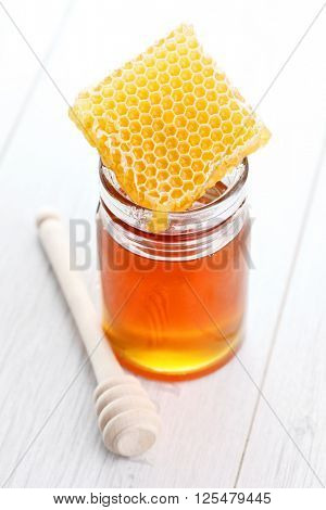 honey with honey comb - food and drink