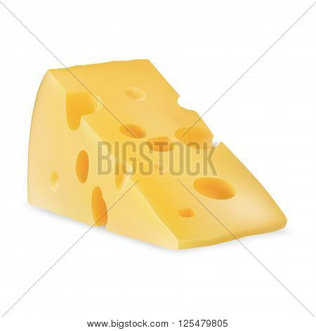 Piece of cheese for your design, milk cheese