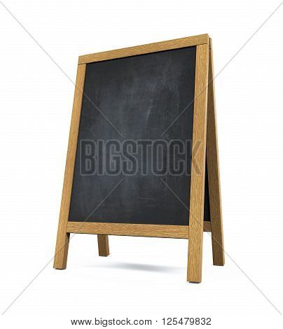 Sidewalk Chalkboard isolated on white background. 3D render