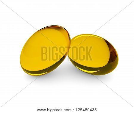 Oil Supplements In Soft Gel Capsule