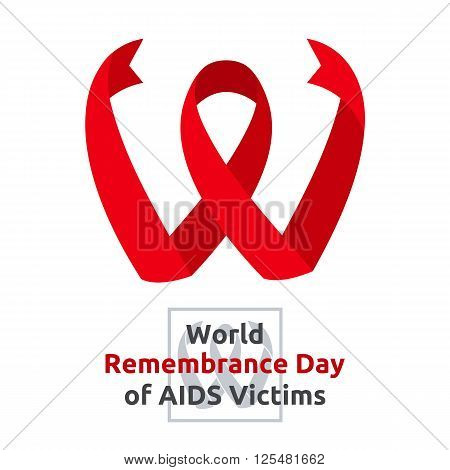 World Remembrance Day of AIDS Victims - banner for web print vector illustration