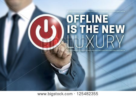 offline is the new luxury concept touchscreen.
