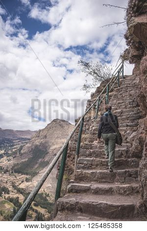 Exploring The Majestic Steep Inca Trails Of Pisac, Peru