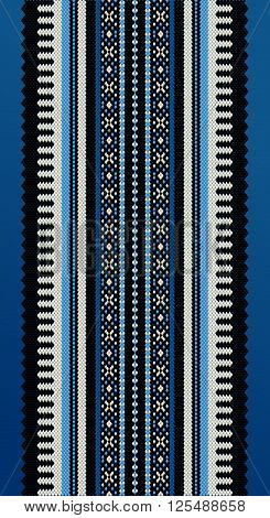 A Blue Middle Eastern Traditional Carpet Fabric Texture