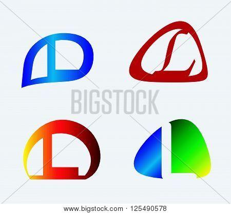 Unusual Letters L Set. Vector illustration design