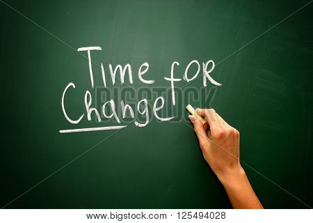 Time To Change.