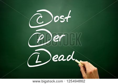 Hand Drawn Cost Per Lead (cpl), Business Concept Acronym ..