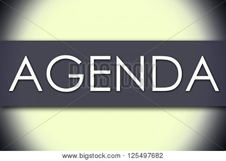 Agenda - Business Concept With Text