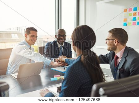 Successful Multiracial Business Team