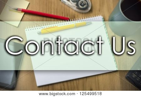 Contact Us -  Business Concept With Text