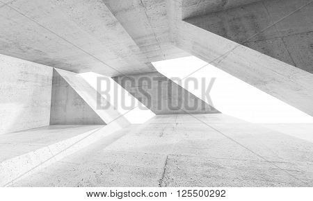 Empty Abstract White Concrete Interior Design