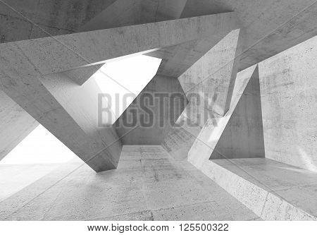 Abstract Concrete Room With Chaotic Structures