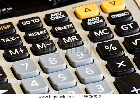 The Calculator Closed Up On Num Pad