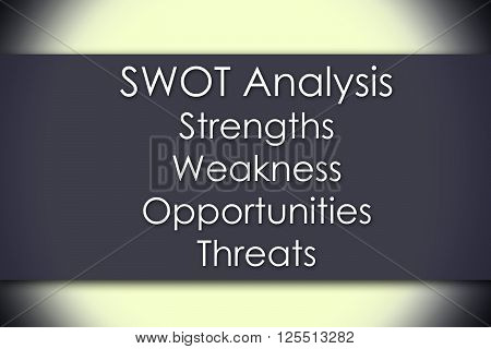 Swot Analysis List - Business Concept With Text