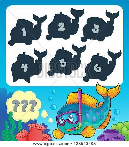 Fish riddle theme image 9 - eps10 vector illustration.
