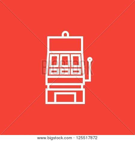 Slot machine line icon.