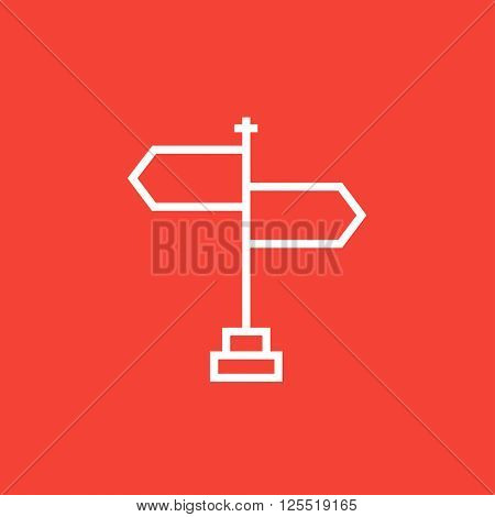 Travel traffic sign line icon.