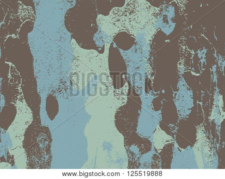 Bark close up texture vector illustration. Blue light colors