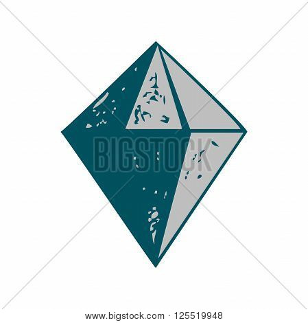 Diamond shape icon isolated vector illustration. Abstract bacground