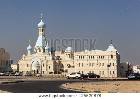 Russian Church of the Apostle Philip. Sharjah. United Arab Emirates.