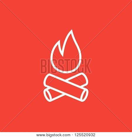 Campfire line icon.