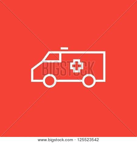 Ambulance car line icon.