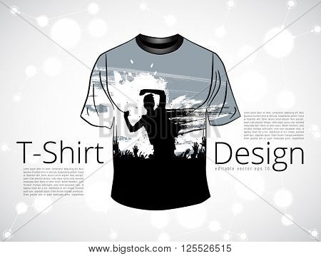 T-shirt design. Vector