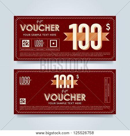 design Discount coupon Special offer voucher Layout voucher – Coupon Voucher Template