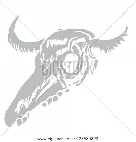 cow skull cartoon