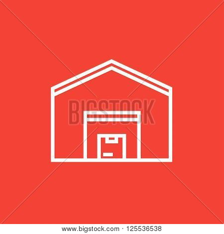 Warehouse line icon.