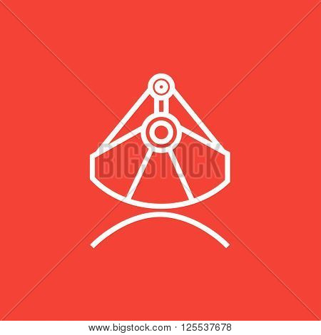 Mining industrial scoop line icon.