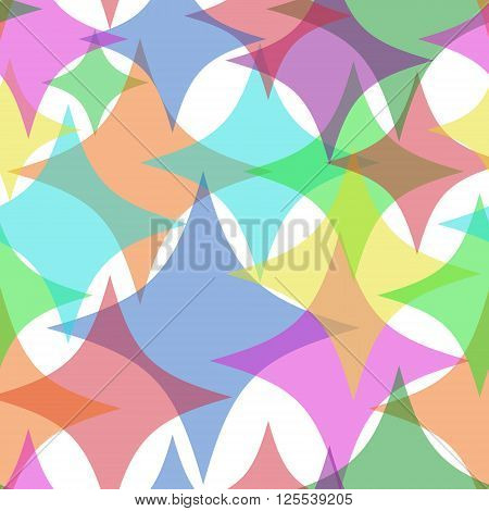 Ghostly Stars. Seamless Texture for background image on websites e-mails.