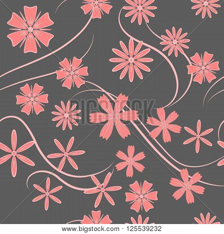 Spring Flowers. Seamless texture. Texture for background image on websites e-mails.