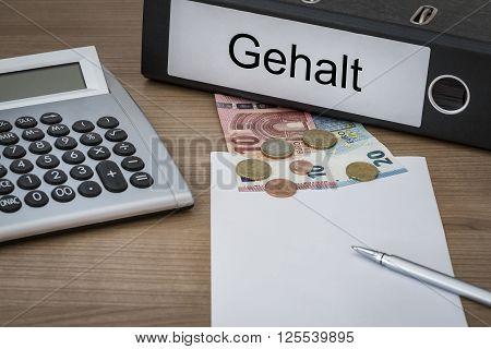 Gehalt Written On A Binder