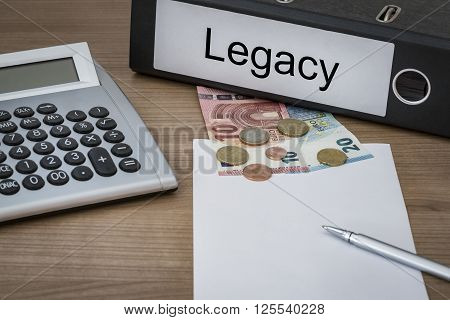 Legacy Written On A Binder