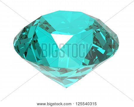 Gemstone isolated on white background. 3D render