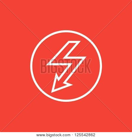 Lightning arrow downward line icon.