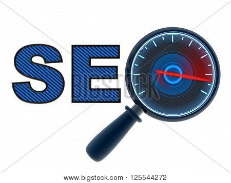 Search engine optimization symbol (done in 3d)