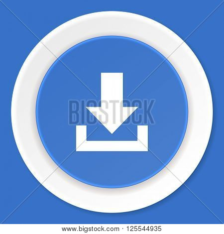 download blue flat design modern web icon