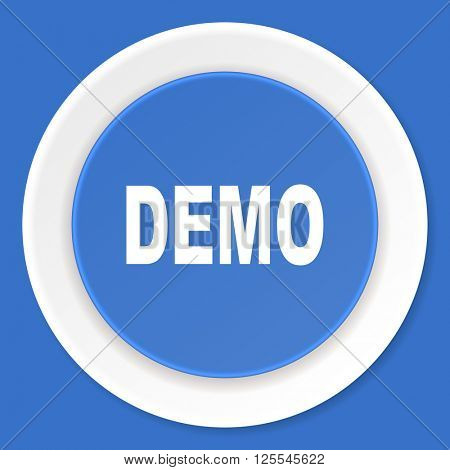 demo blue flat design modern web icon